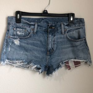 DISTRESSED DENIM & SUPPLY SHORTS SIZE 27